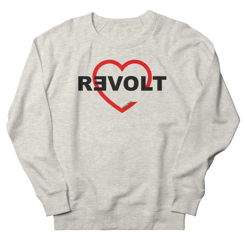 RevoltHeart Black Text  Men's Sweatshirt by Revolution Art Offensive