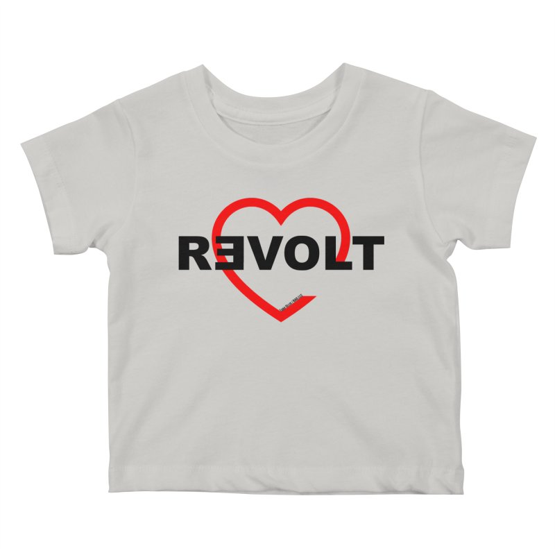 RevoltHeart Black Text  Kids Baby T-Shirt by Revolution Art Offensive