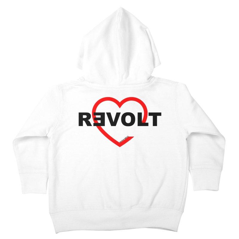 RevoltHeart Black Text  Kids Toddler Zip-Up Hoody by Revolution Art Offensive