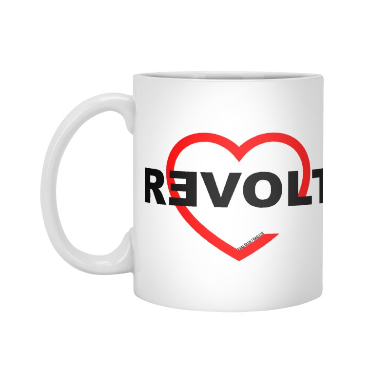 RevoltHeart Black Text  Accessories Mug by Revolution Art Offensive