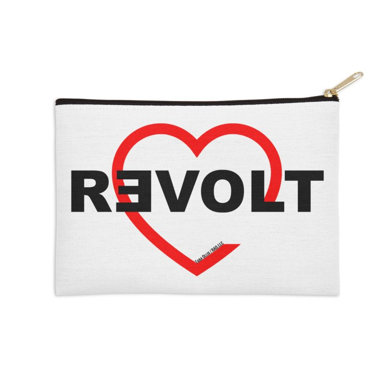 RevoltHeart Black Text  Accessories Zip Pouch by Revolution Art Offensive