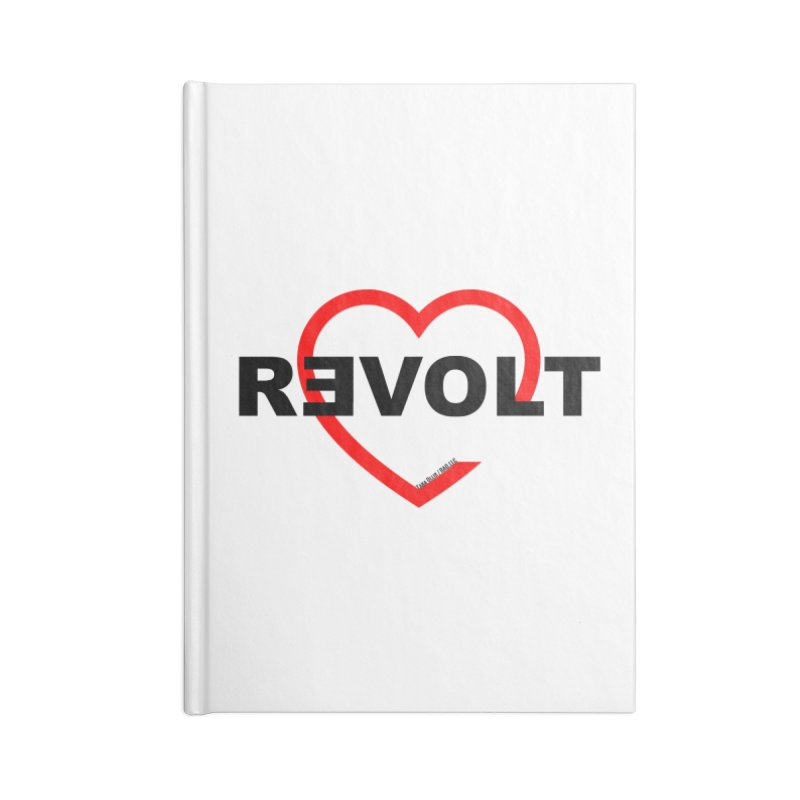 RevoltHeart Black Text  Accessories Blank Journal Notebook by Revolution Art Offensive