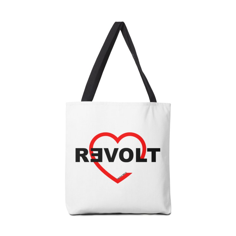 RevoltHeart Black Text  Accessories Bag by Revolution Art Offensive