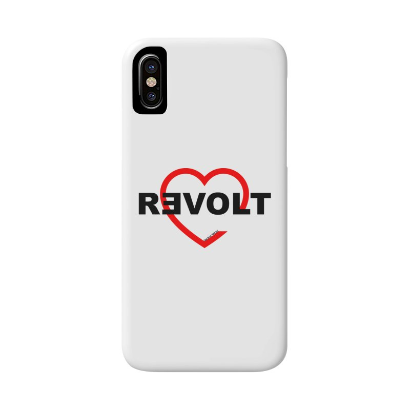 RevoltHeart Black Text  Accessories Phone Case by Revolution Art Offensive