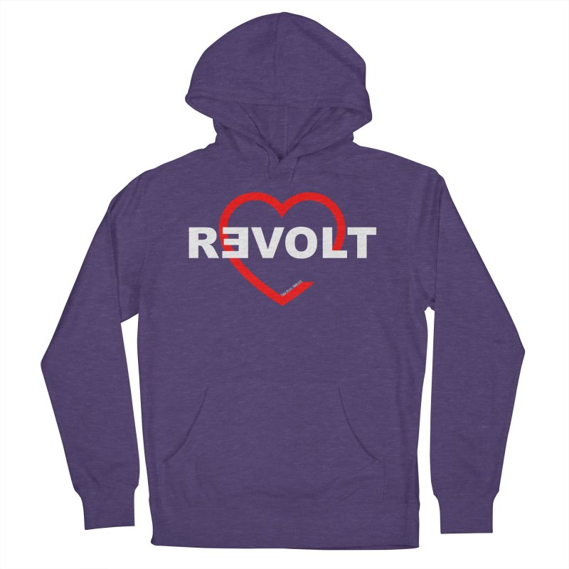 RevoltHeart White Text Women's Pullover Hoody by Revolution Art Offensive