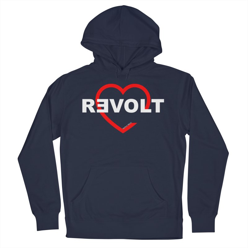 RevoltHeart White Text Men's Pullover Hoody by Revolution Art Offensive