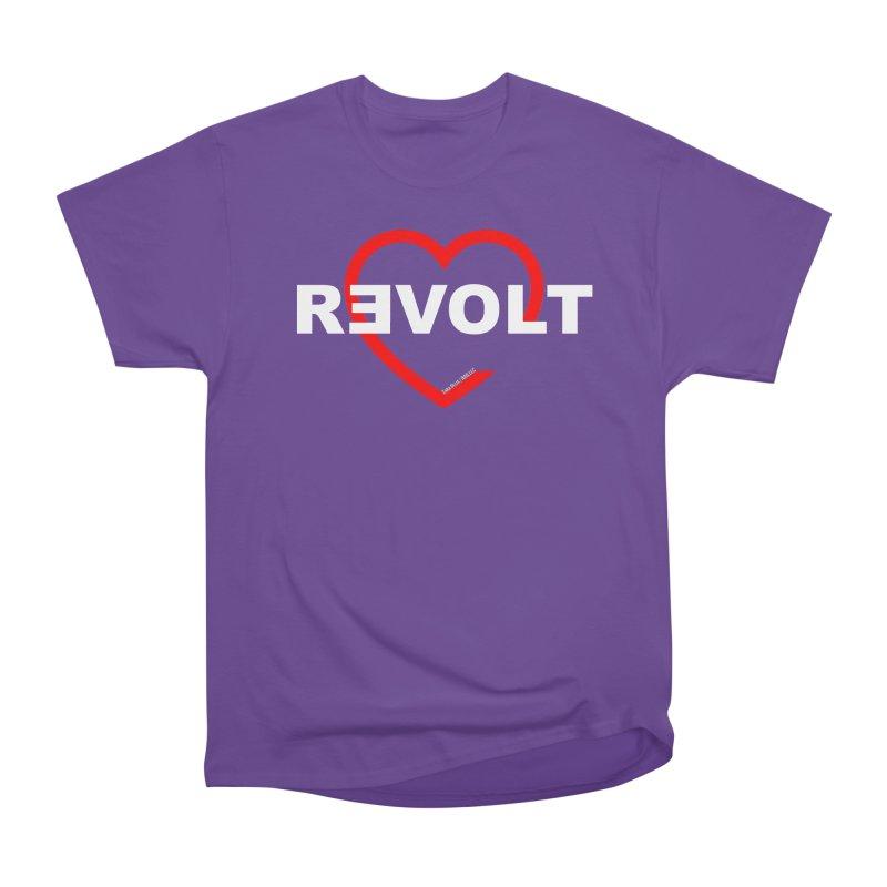 RevoltHeart White Text Women's Heavyweight Unisex T-Shirt by Revolution Art Offensive