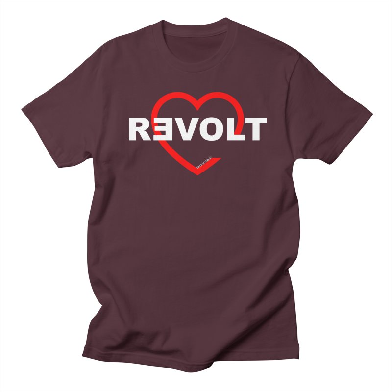 RevoltHeart White Text Women's Unisex T-Shirt by Revolution Art Offensive