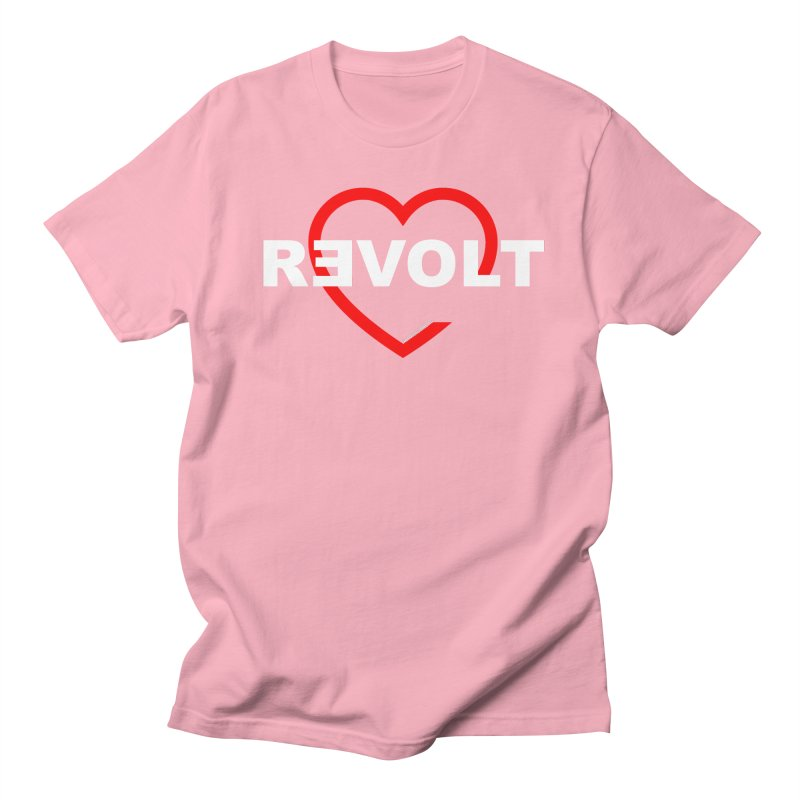RevoltHeart White Text Men's T-shirt by Revolution Art Offensive