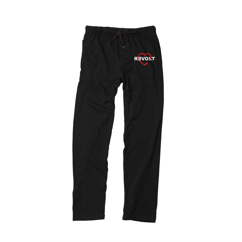 RevoltHeart White Text Women's Lounge Pants by Revolution Art Offensive