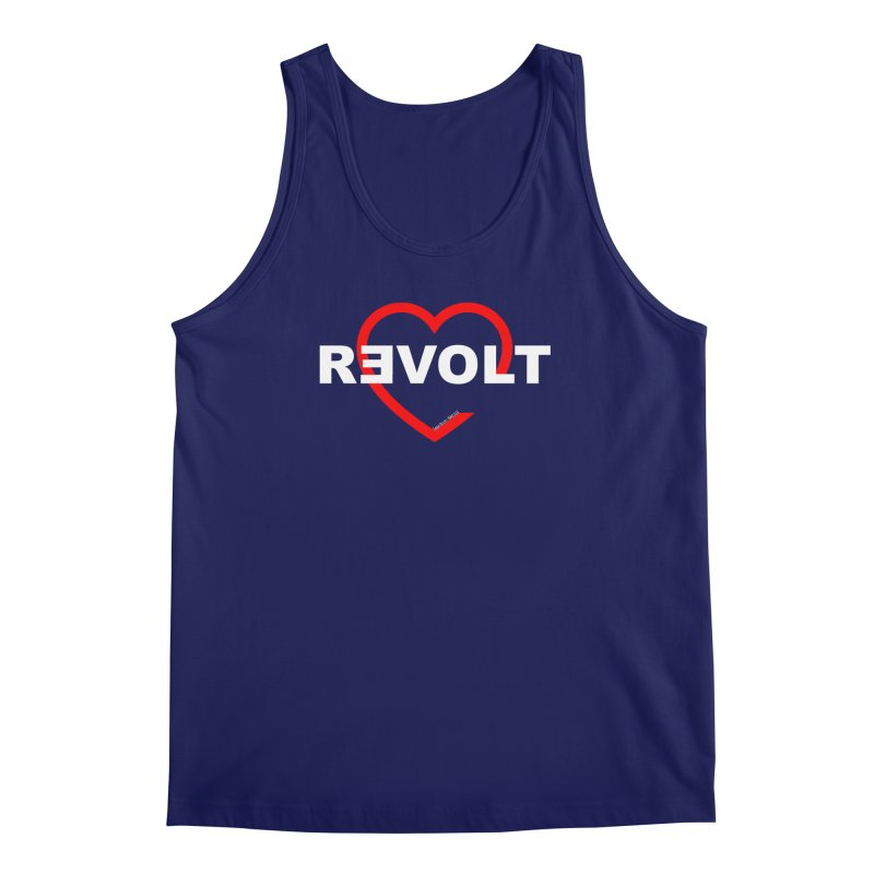 RevoltHeart White Text Men's Tank by Revolution Art Offensive