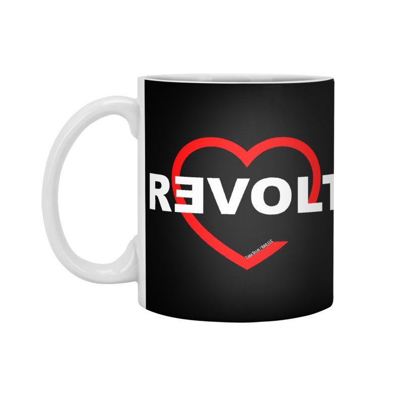 RevoltHeart White Text Accessories Mug by Revolution Art Offensive