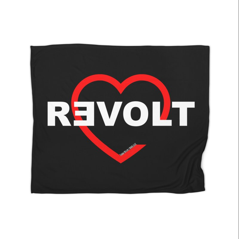 RevoltHeart White Text Home Blanket by Revolution Art Offensive
