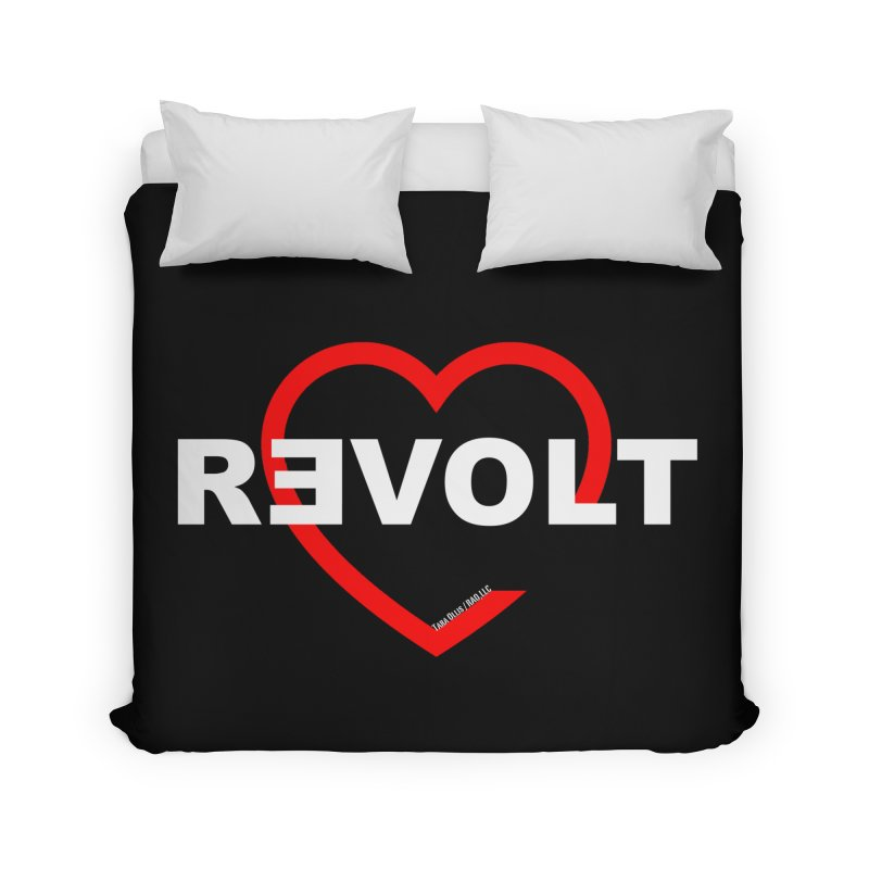 RevoltHeart White Text Home Duvet by Revolution Art Offensive