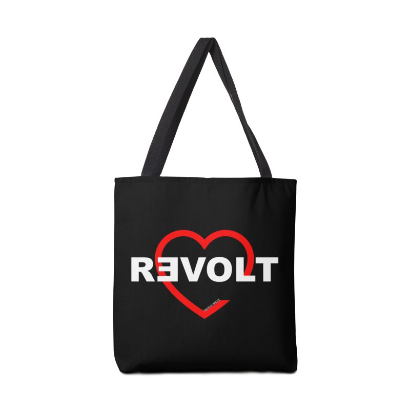 RevoltHeart White Text Accessories Bag by Revolution Art Offensive