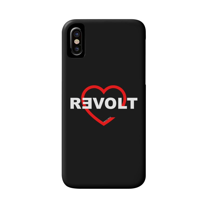 RevoltHeart White Text Accessories Phone Case by Revolution Art Offensive