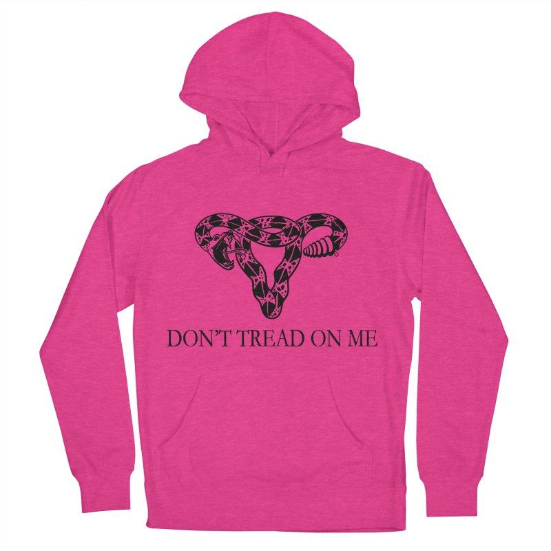 Don't Tread On Me Uterus Rattlesnake Men's Pullover Hoody by Revolution Art Offensive