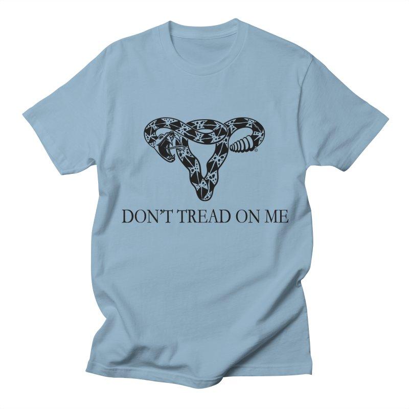 Don't Tread On Me Uterus Rattlesnake Men's T-Shirt by Revolution Art Offensive