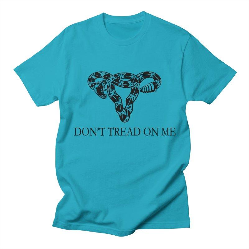Don't Tread On Me Uterus Rattlesnake Men's Regular T-Shirt by Revolution Art Offensive