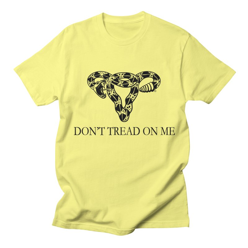 Don't Tread On Me Uterus Rattlesnake Men's T-shirt by Revolution Art Offensive