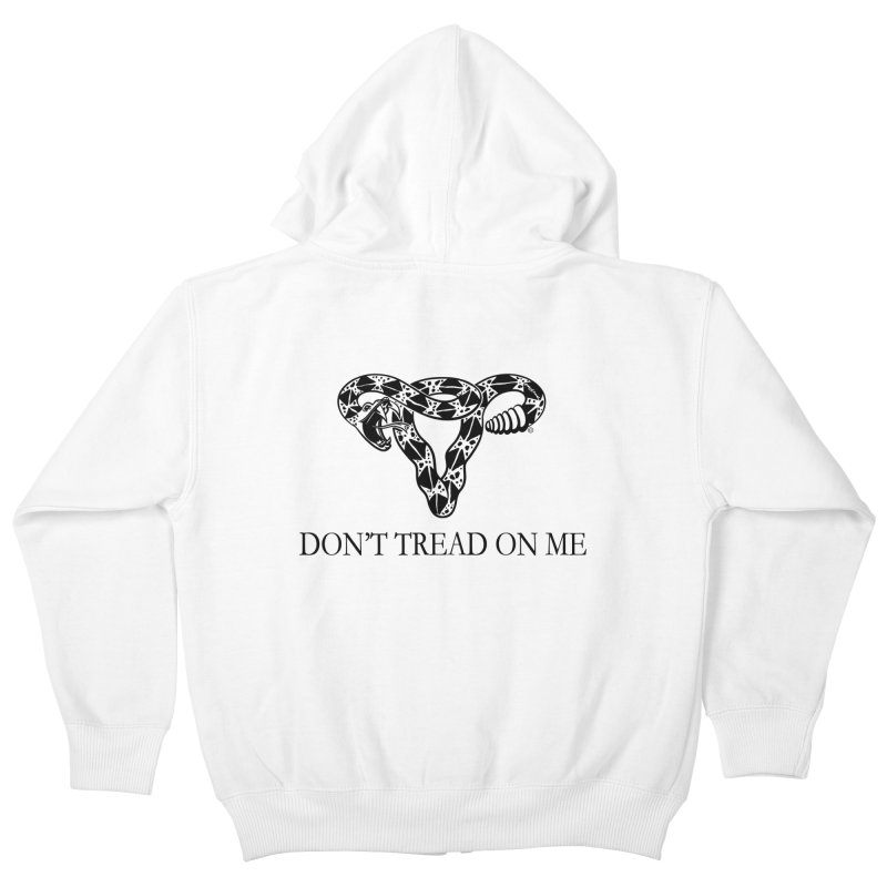 Don't Tread On Me Uterus Rattlesnake Kids Zip-Up Hoody by Revolution Art Offensive