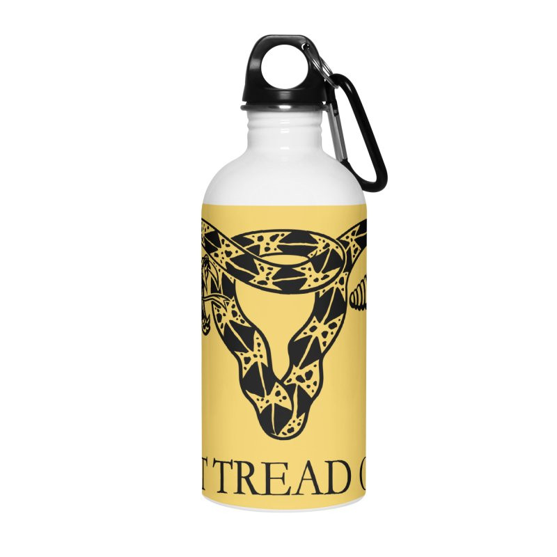 Don't Tread On Me Uterus Rattlesnake Accessories Water Bottle by Revolution Art Offensive