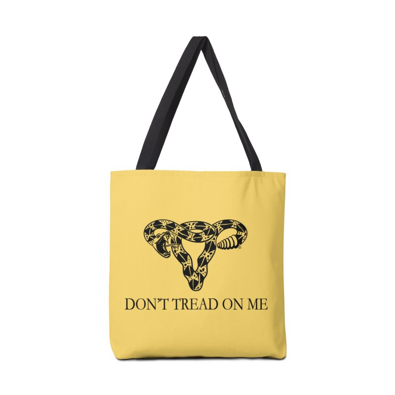 Don't Tread On Me Uterus Rattlesnake Accessories Bag by Revolution Art Offensive
