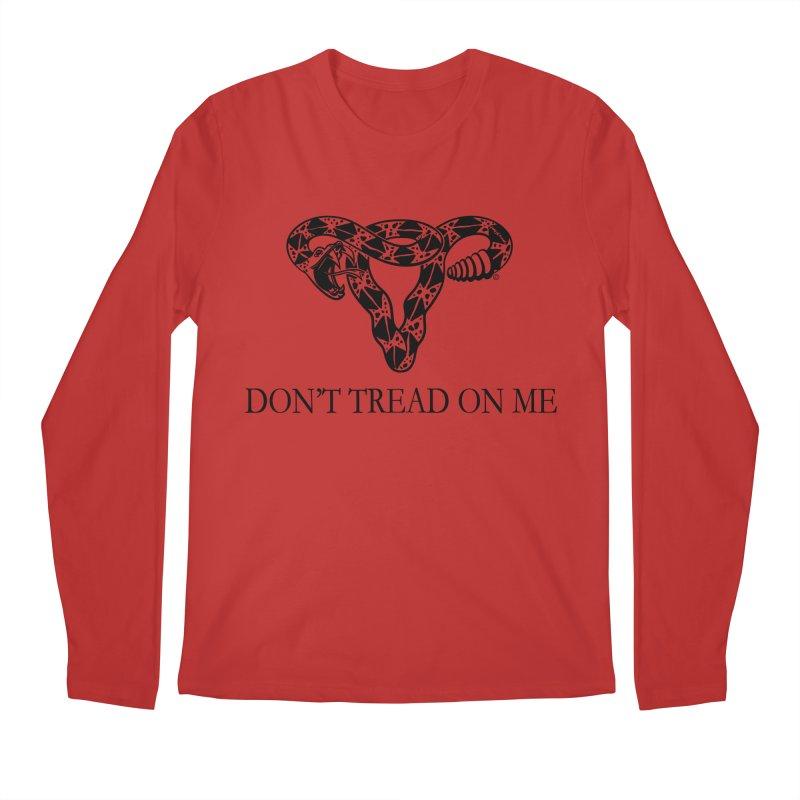 Don't Tread On Me Uterus Rattlesnake Men's Regular Longsleeve T-Shirt by Revolution Art Offensive