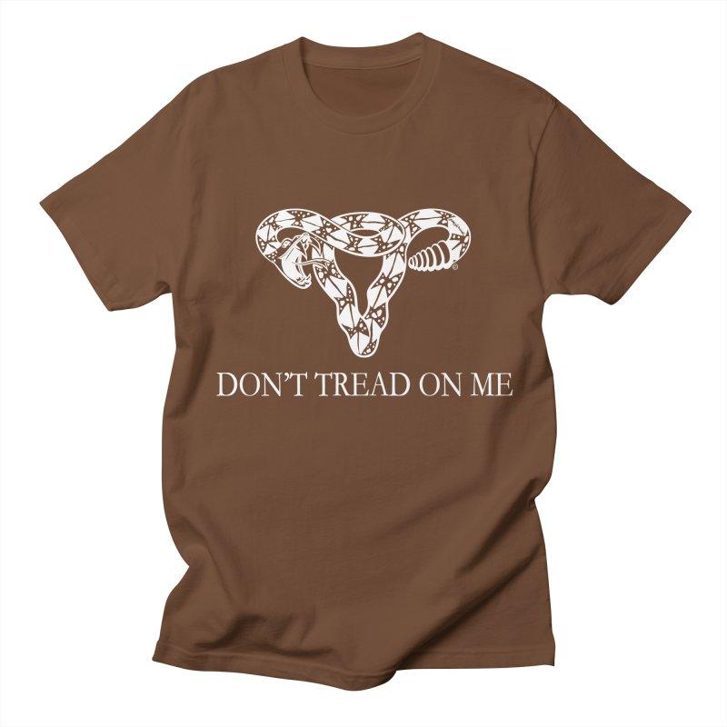 Don't Tread On Me Rattlesnake Men's T-Shirt by Revolution Art Offensive