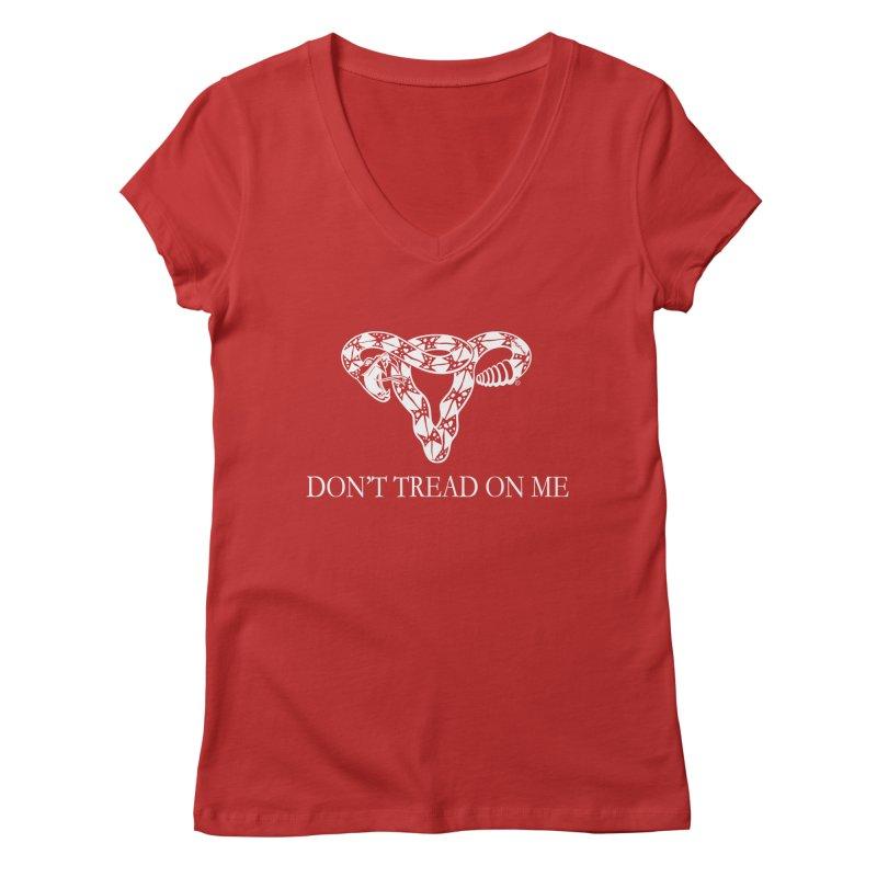Don't Tread On Me Rattlesnake Women's V-Neck by Revolution Art Offensive