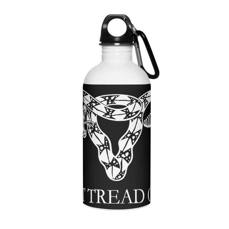 Don't Tread On Me Rattlesnake Accessories Water Bottle by Revolution Art Offensive