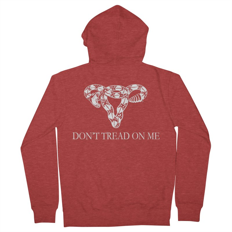 Don't Tread On Me Rattlesnake Women's French Terry Zip-Up Hoody by Revolution Art Offensive