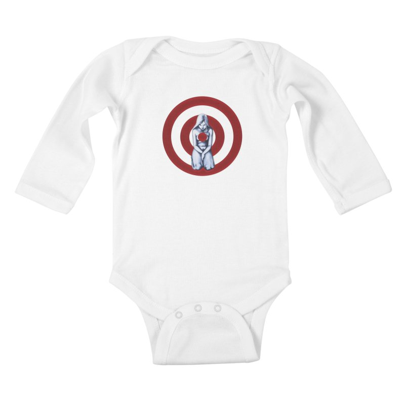 Marked - Get Your Sights Off My Rights Kids Baby Longsleeve Bodysuit by Revolution Art Offensive