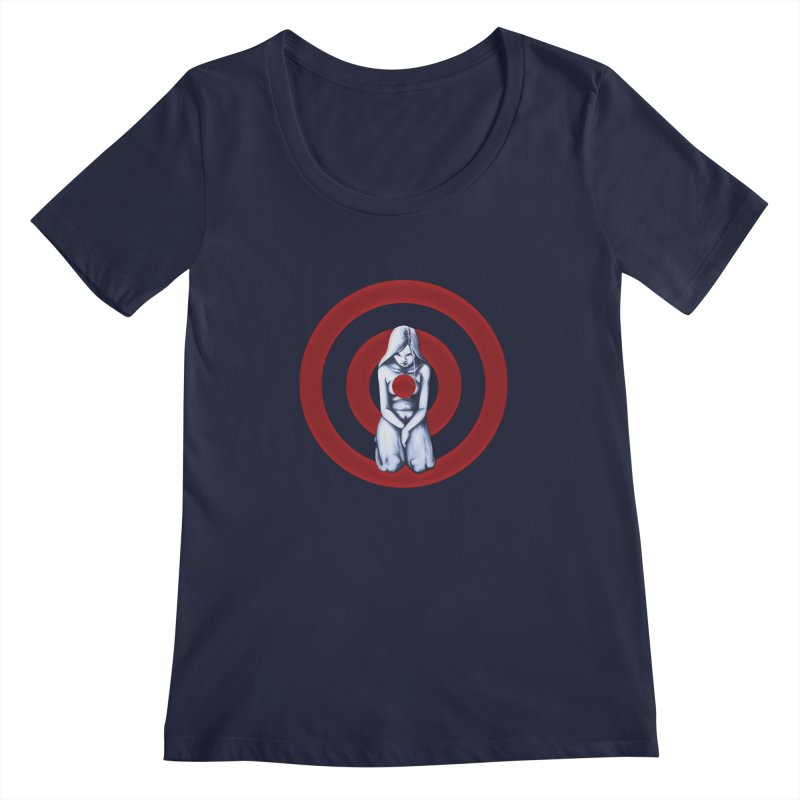 Marked - Get Your Sights Off My Rights Women's Scoopneck by Revolution Art Offensive