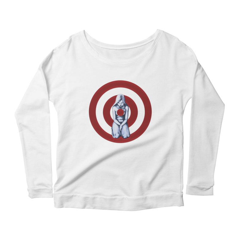 Marked - Get Your Sights Off My Rights Women's Longsleeve Scoopneck  by Revolution Art Offensive