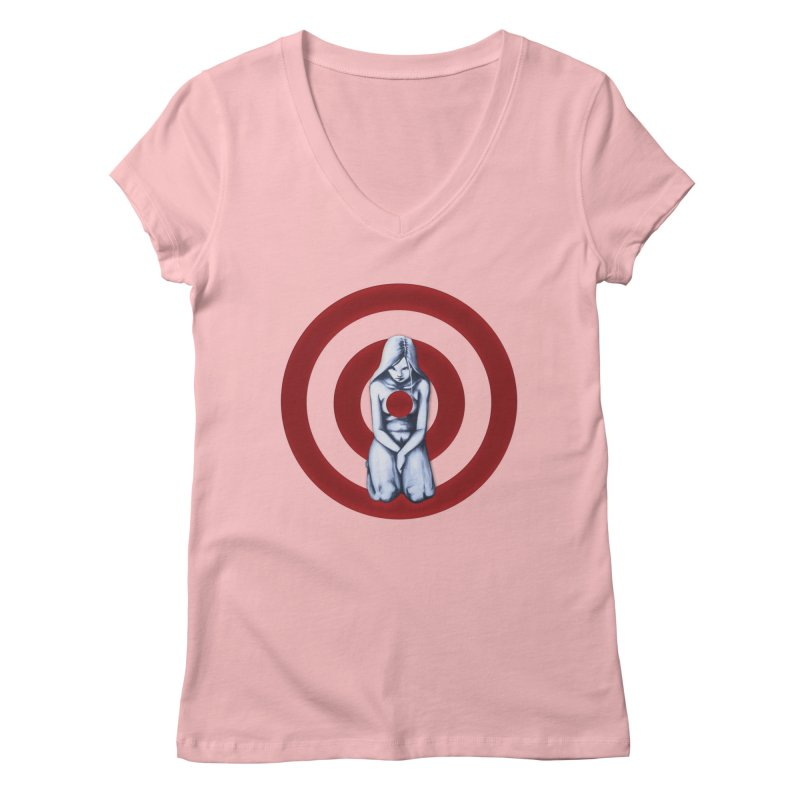 Marked - Get Your Sights Off My Rights Women's V-Neck by Revolution Art Offensive