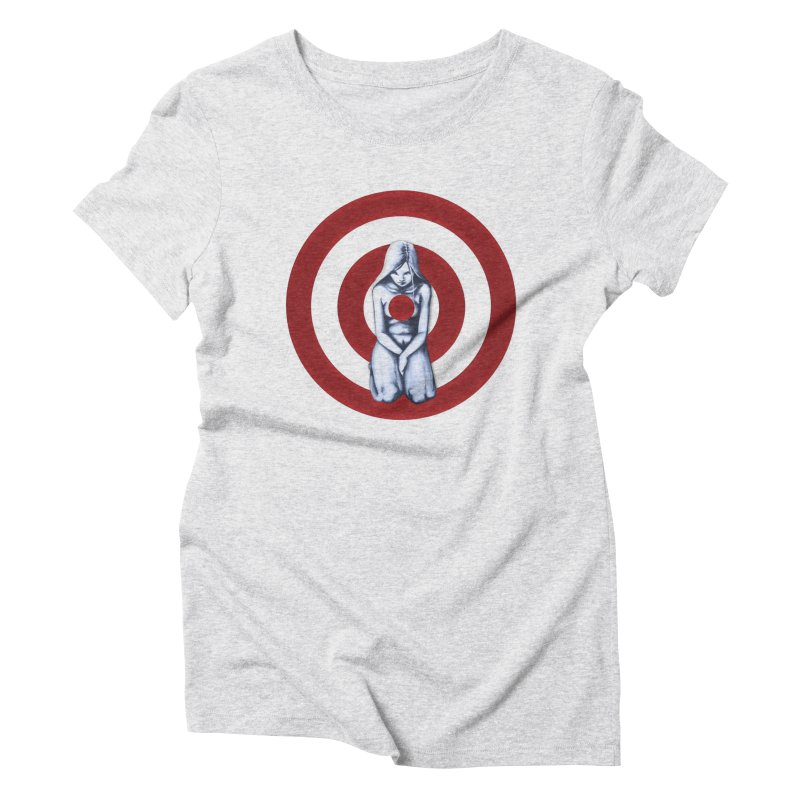 Marked - Get Your Sights Off My Rights Women's Triblend T-shirt by Revolution Art Offensive