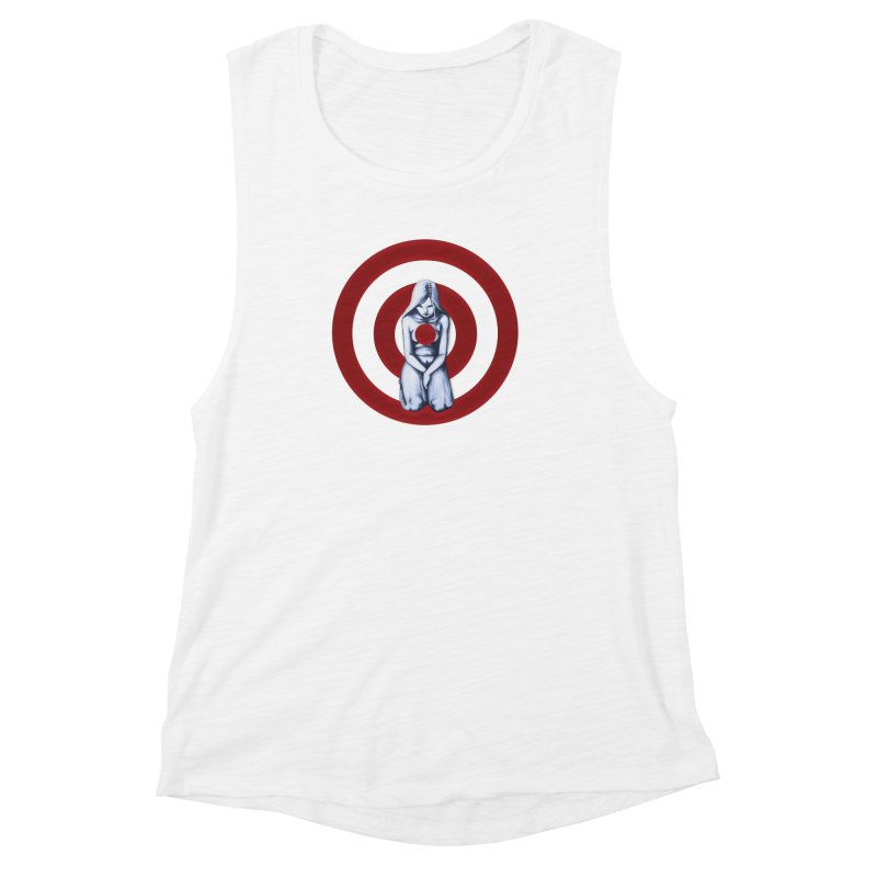 Marked - Get Your Sights Off My Rights Women's Muscle Tank by Revolution Art Offensive