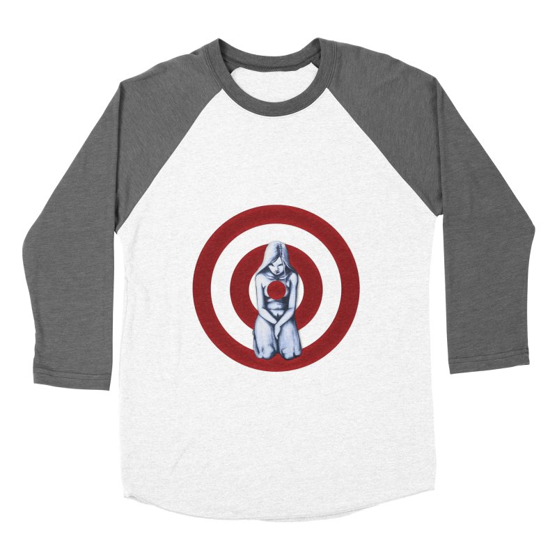 Marked - Get Your Sights Off My Rights - Text Women's Baseball Triblend Longsleeve T-Shirt by Revolution Art Offensive