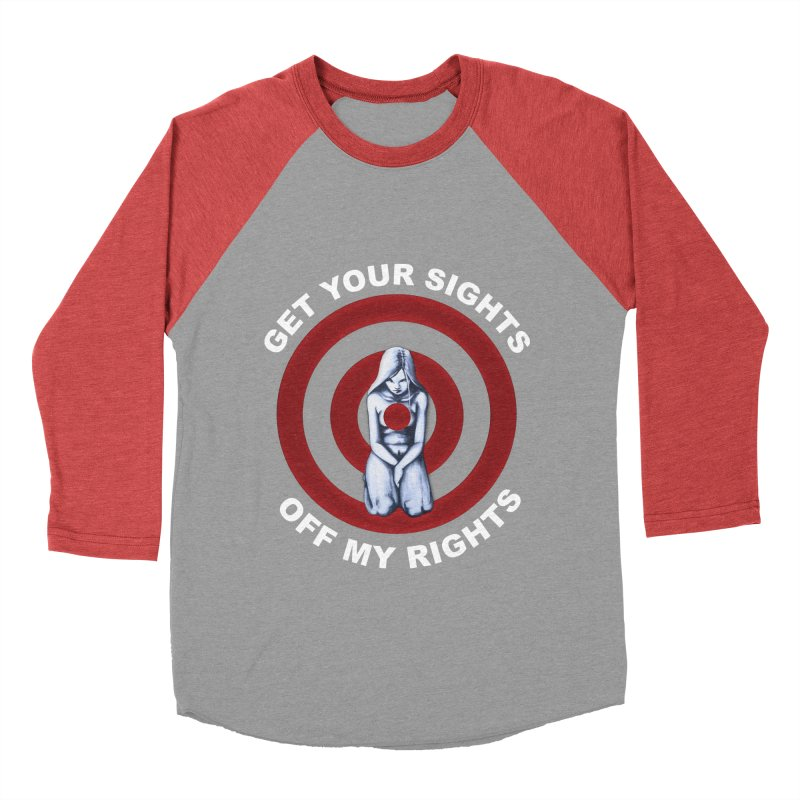 Marked - Get Your Sights Off My Rights - Text Men's Baseball Triblend Longsleeve T-Shirt by Revolution Art Offensive