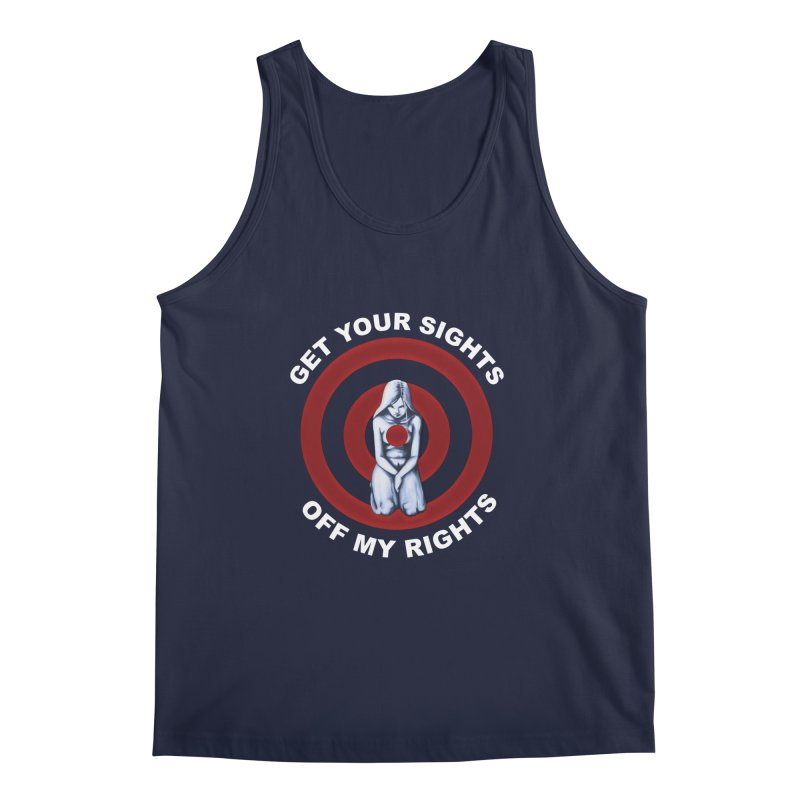 Marked - Get Your Sights Off My Rights - Text Men's Regular Tank by Revolution Art Offensive