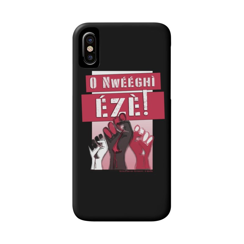 No Place for Kings in Igbo Accessories Phone Case by Revolution Art Offensive