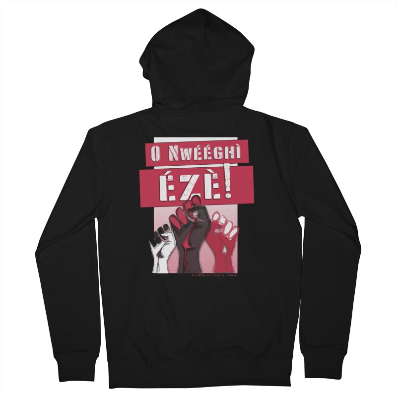 No Place for Kings in Igbo Women's French Terry Zip-Up Hoody by Revolution Art Offensive
