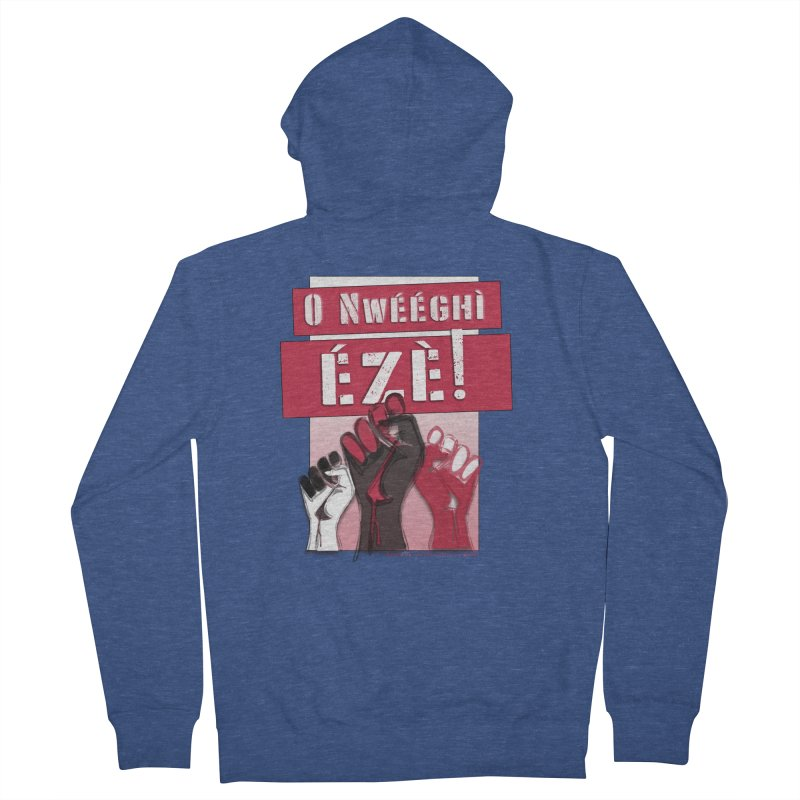 No Place for Kings in Igbo Men's French Terry Zip-Up Hoody by Revolution Art Offensive