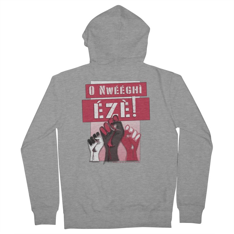 No Place for Kings in Igbo Men's Zip-Up Hoody by Revolution Art Offensive