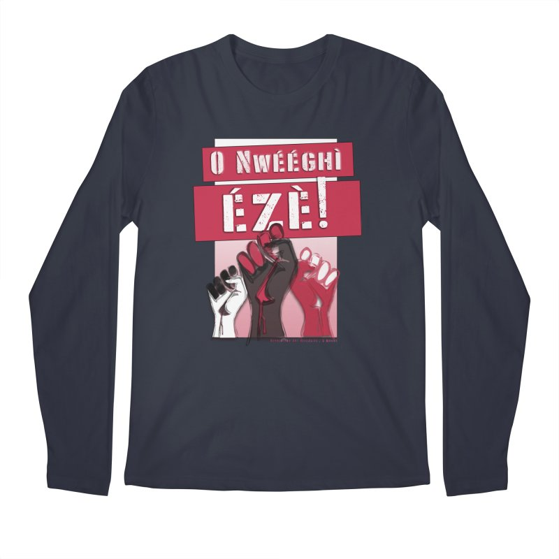No Place for Kings in Igbo Men's Regular Longsleeve T-Shirt by Revolution Art Offensive