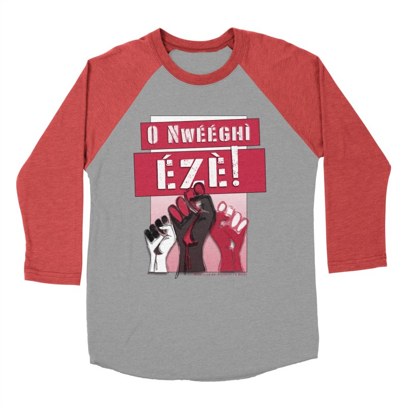 No Place for Kings in Igbo Women's Baseball Triblend Longsleeve T-Shirt by Revolution Art Offensive