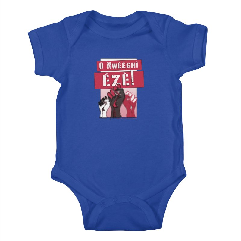 No Place for Kings in Igbo Kids Baby Bodysuit by Revolution Art Offensive