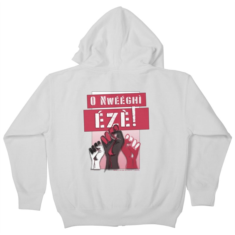 No Place for Kings in Igbo Kids Zip-Up Hoody by Revolution Art Offensive