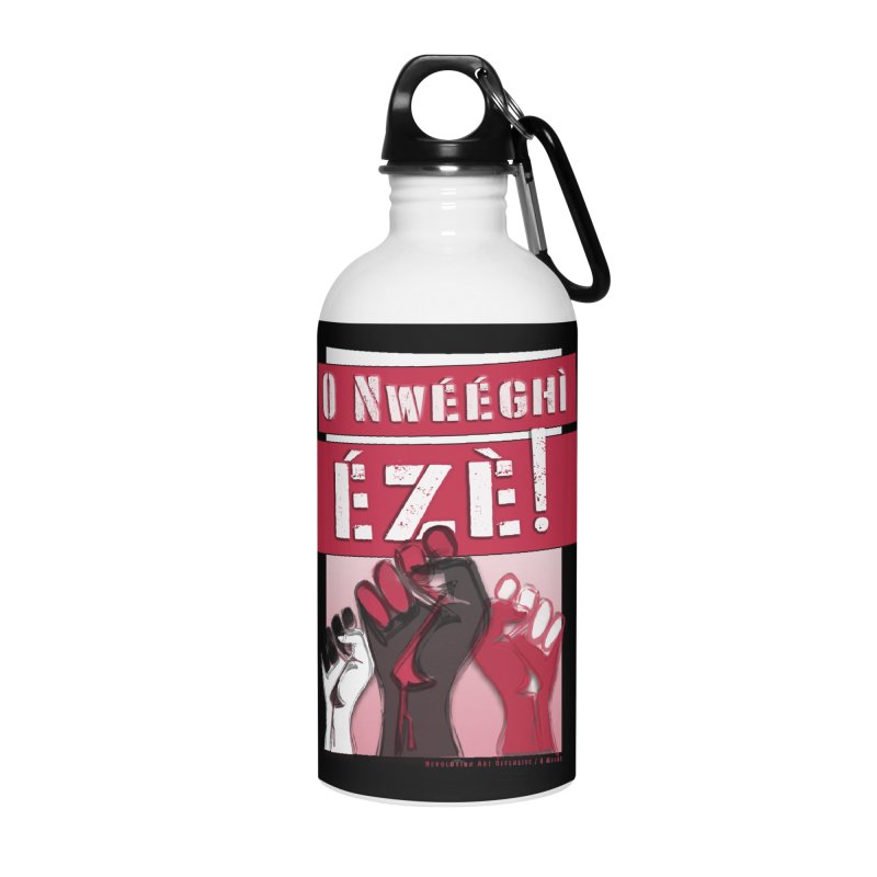 No Place for Kings in Igbo Accessories Water Bottle by Revolution Art Offensive